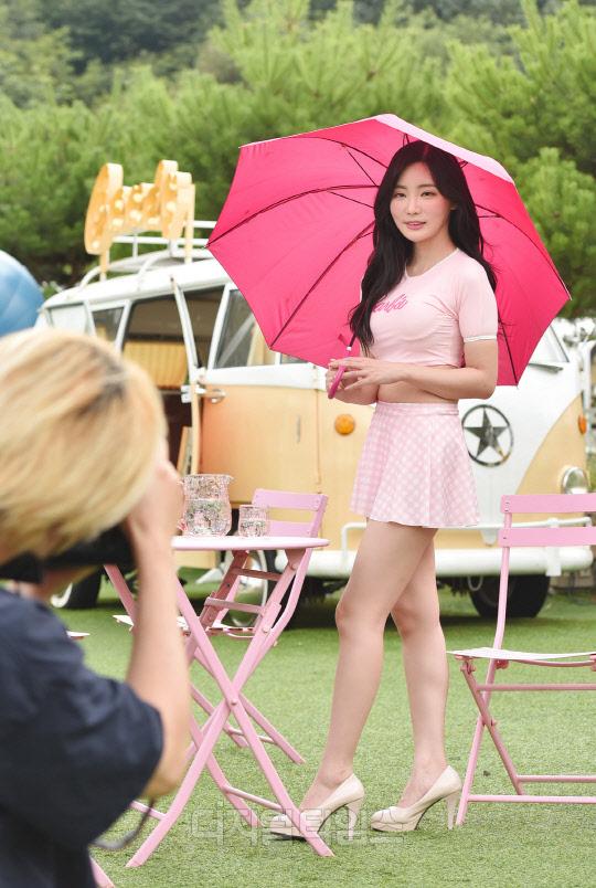 [포토]곽민선 아나운서, 핑크핑크한 큐티 섹시